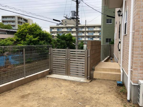 埼玉県さいたま市 擁壁とエクステリア一式