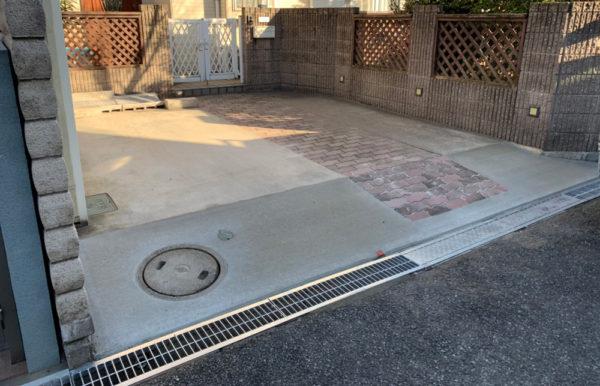 駐車場の段差工事完成2