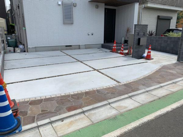 庭のコンクリート工事