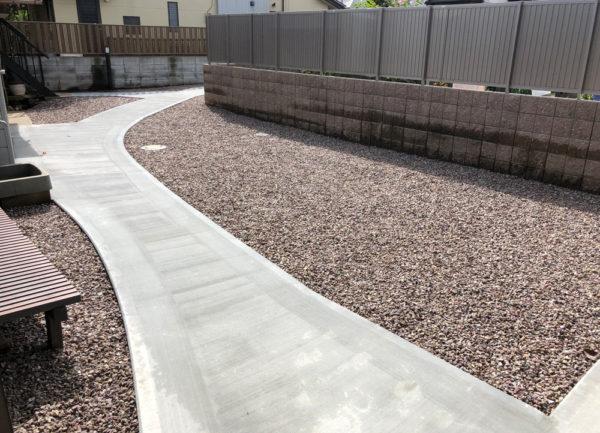 土間コンクリート施工後1