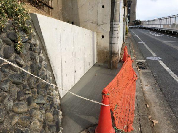 擁壁の工事