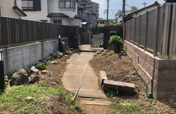 所沢市の土間コンクリート施工前