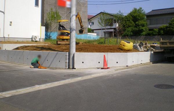 川越市のフェンス工事施工前