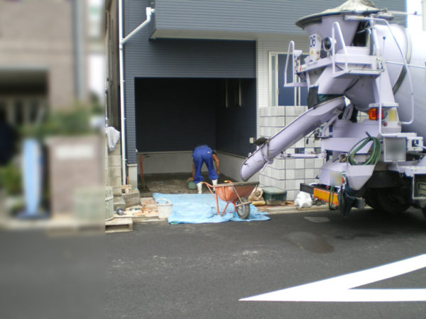 霞ケ関土間コン工事2