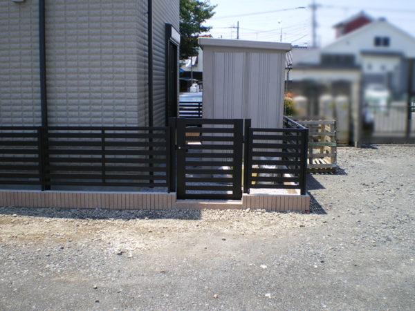 川越市かすみ野フェンス工事3