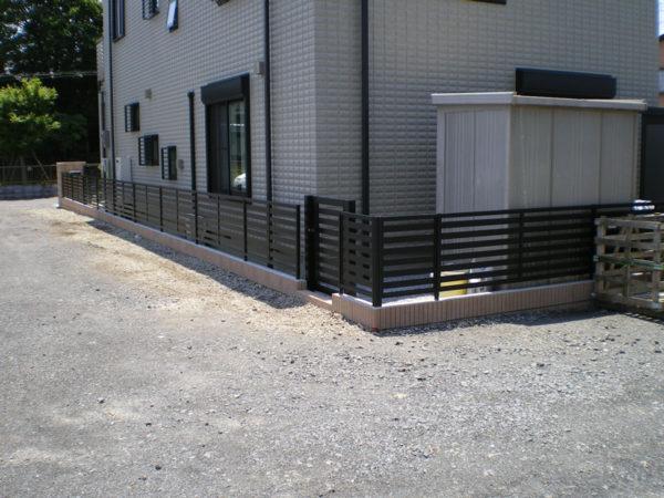川越市かすみ野フェンス工事2