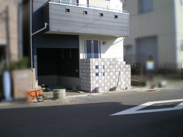 霞ケ関造作門柱1