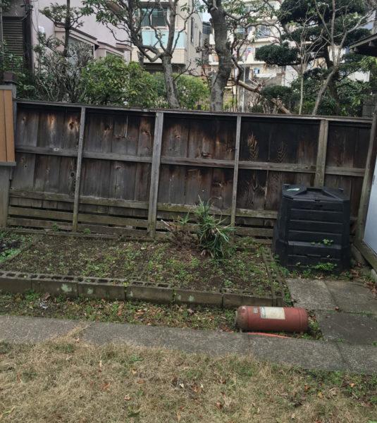 川越市笠幡のフェンス工事2