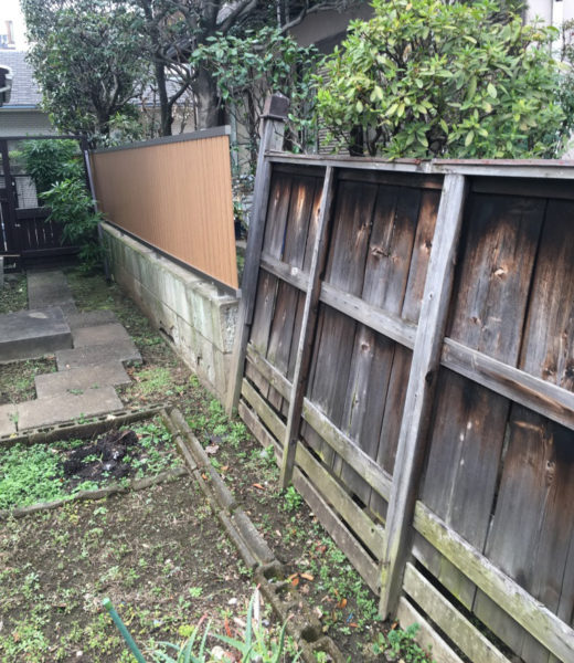 川越市笠幡のフェンス工事施工前3