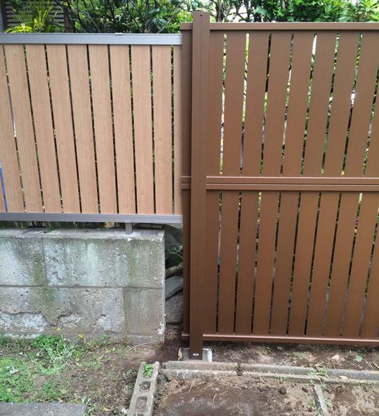 川越市笠幡のフェンス工事施工後3