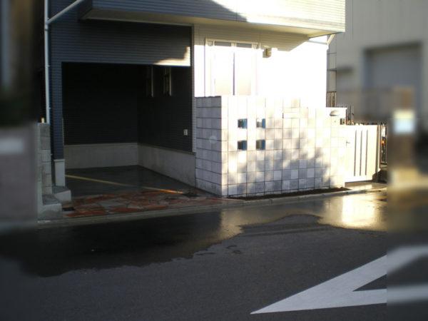 霞ケ関造作門柱施工後3