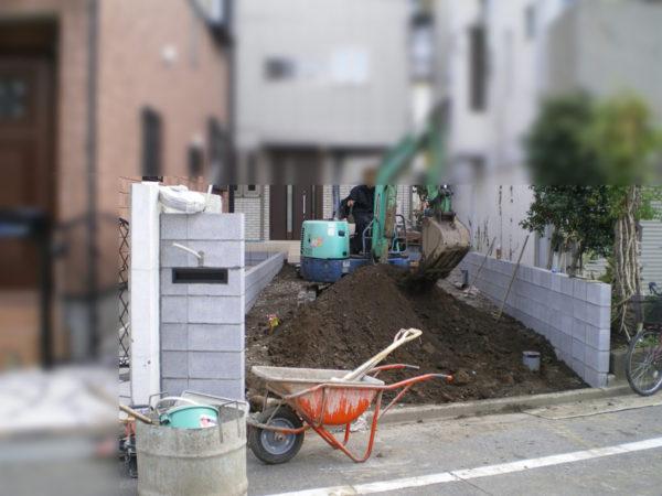 南古谷外構一式工事1
