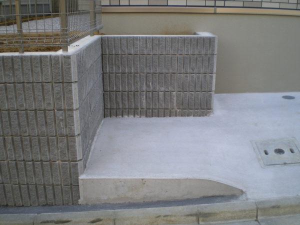 川越市の土間コンクリート工事施工後1