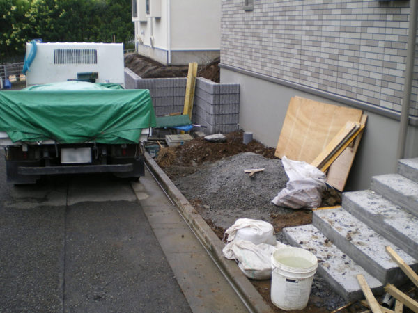 川越市の土間コンクリート工事施工前2