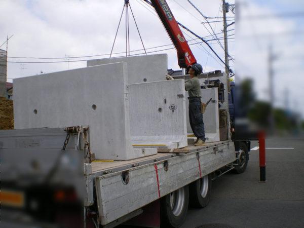 川越市の新築エクステリア擁壁工事3