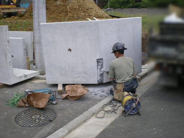 川越市の新築エクステリア擁壁工事4