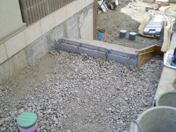 川越市新築エクステリアの玄関アプローチ4