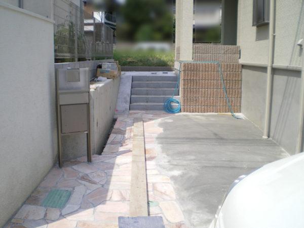 川越市新築エクステリアの玄関アプローチ6
