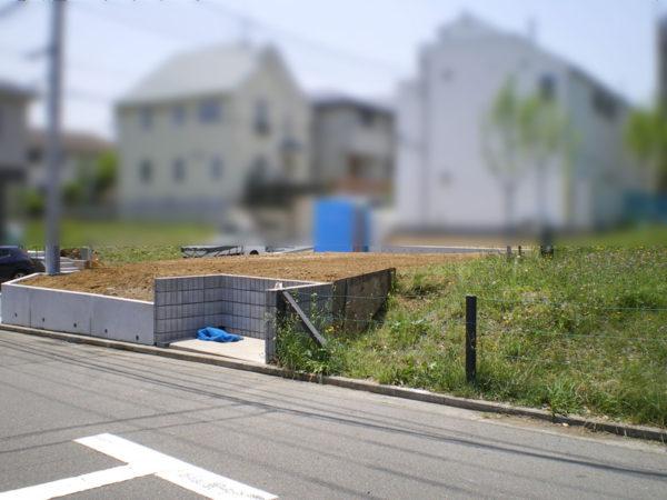 川越市の新築エクステリア擁壁工事7
