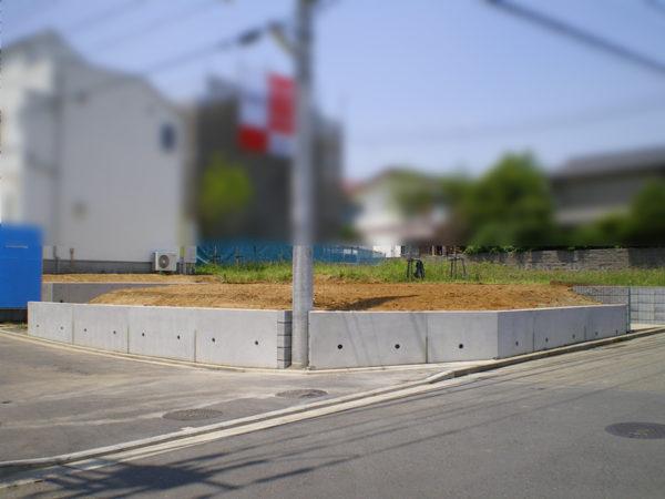 川越市の新築エクステリア擁壁工事8