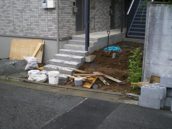川越市の土間コンクリート工事1