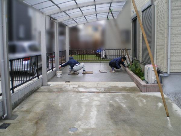 埼玉県さいたま市 【駐車場のコンクリート・カーポート設置工事】4