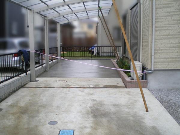 埼玉県さいたま市 【駐車場のコンクリート・カーポート設置工事】5