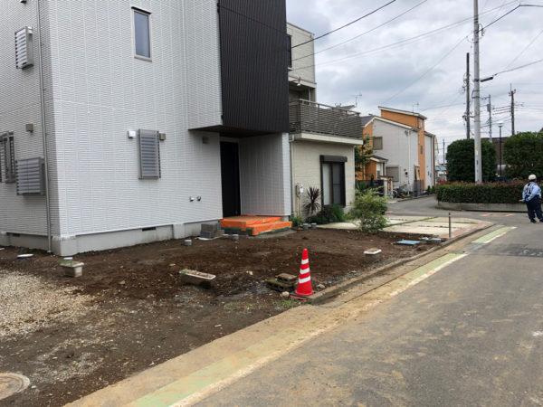 志木市の新築エクステリア施工前1