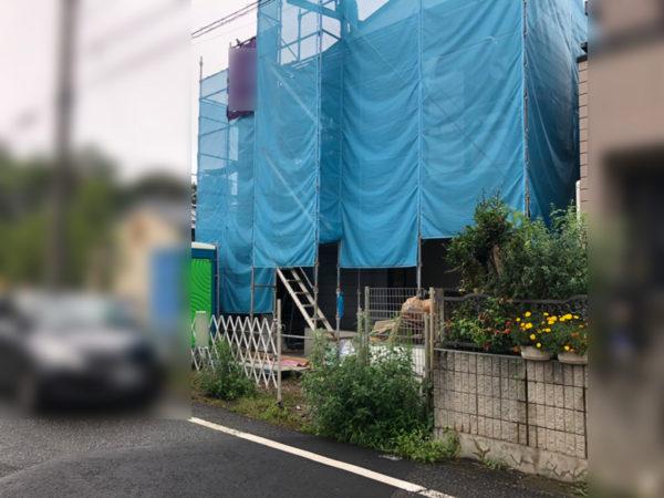 西東京市 土間コンクリートとカーポート工事1