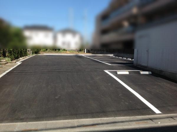 所沢市 駐車場の舗装工事2