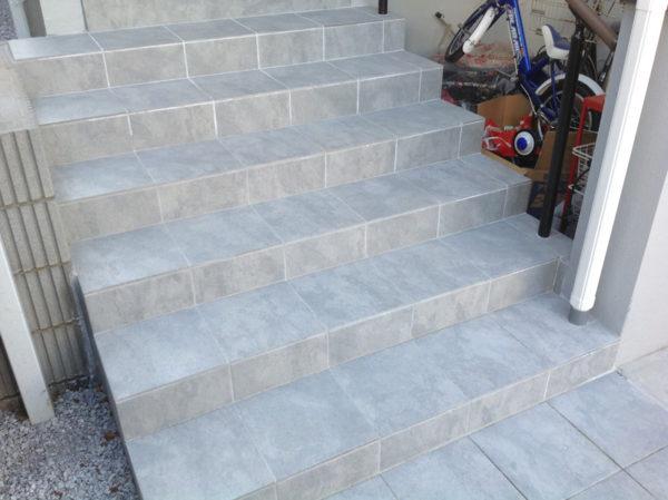 川越市小仙波 庭の階段工事2