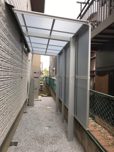 川越市小室砂利敷き工事とサイクルポート2