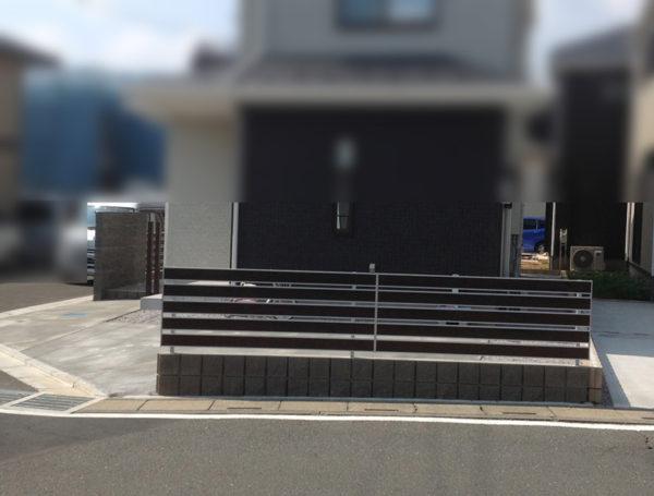 川越市月吉町目隠しフェンスと土間コンクリート工事1