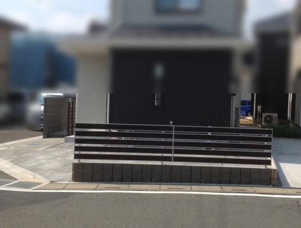 川越市月吉町目隠しフェンスと土間コンクリート工事2