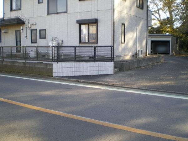 川越市寺山 ブロック塀補修3