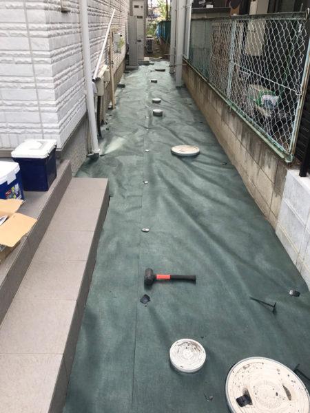 川越市小室砂利敷き工事とサイクルポート3