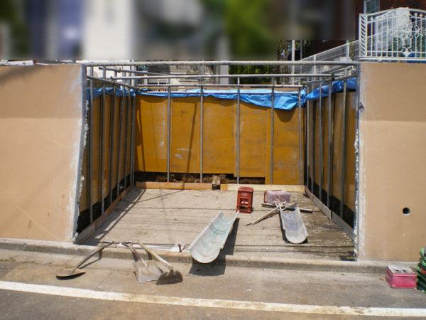 所沢市擁壁解体・駐車場の設置工事4