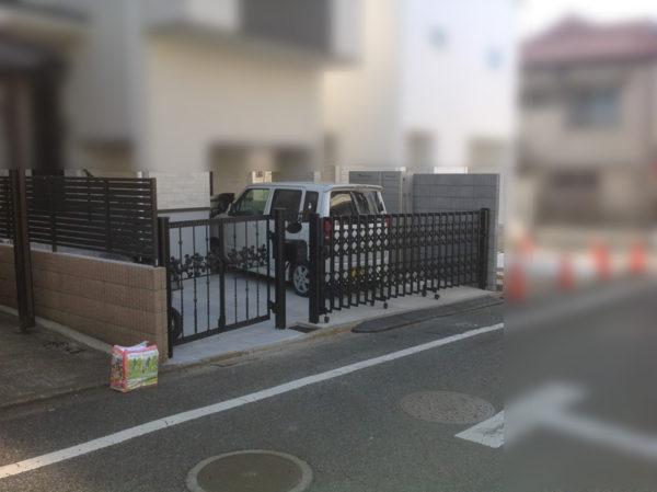川越市小仙波 庭の階段工事5