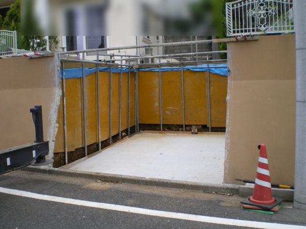 所沢市擁壁解体・駐車場の設置工事5