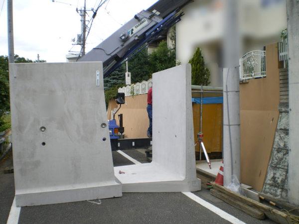 所沢市擁壁解体・駐車場の設置工事6