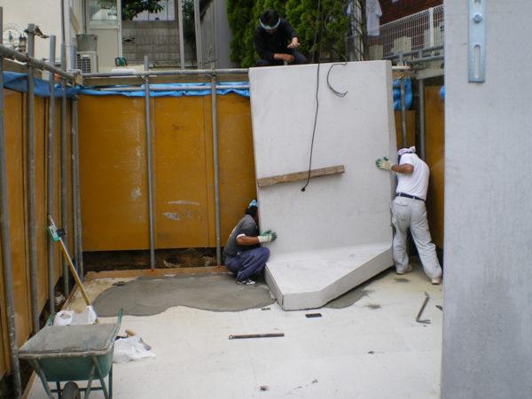 所沢市擁壁解体・駐車場の設置工事7
