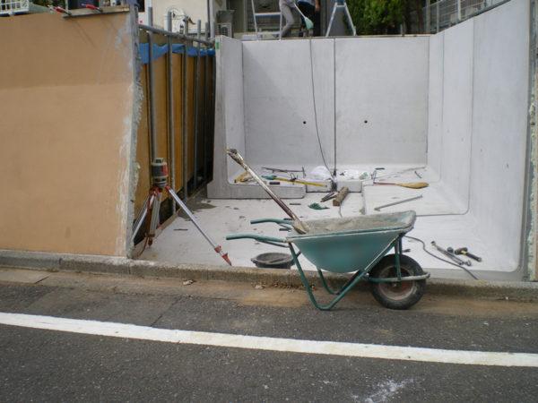 所沢市擁壁解体・駐車場の設置工事8