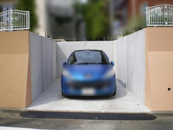 所沢市擁壁解体・駐車場の設置工事9