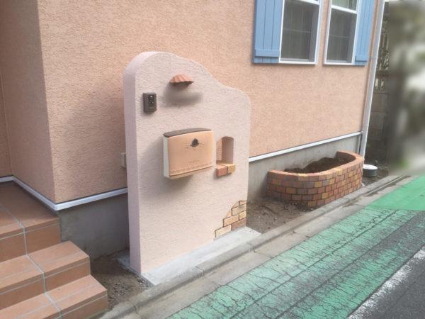 西東京市 新築エクステリア 門袖1