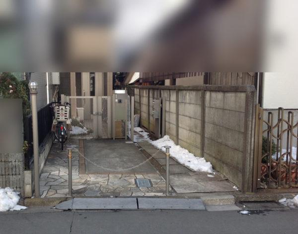 埼玉県川越市目隠しフェンスと門扉1