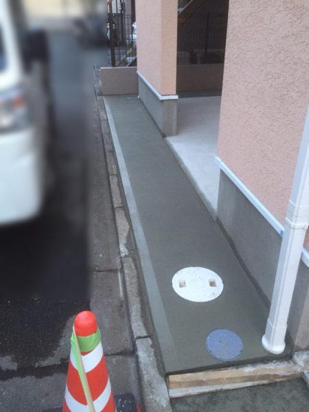 西東京市の新築エクステリアのコンクリート工事15