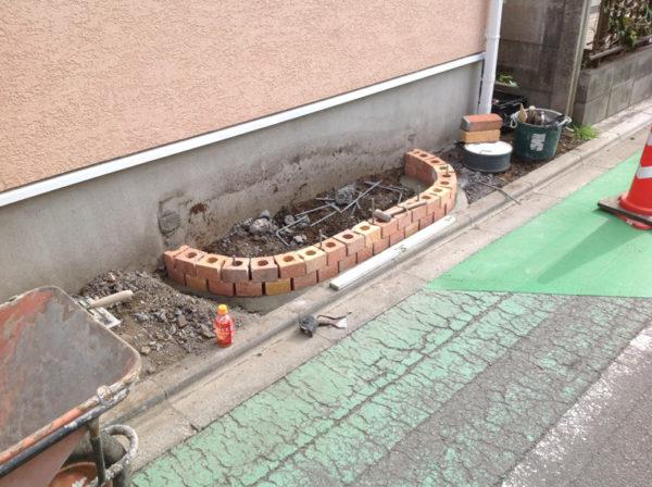 西東京市の新築エクステリアのコンクリート工事16