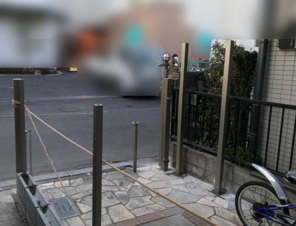 埼玉県川越市目隠しフェンスと門扉2