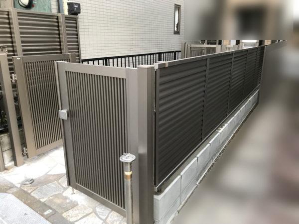 埼玉県川越市目隠しフェンスと門扉3