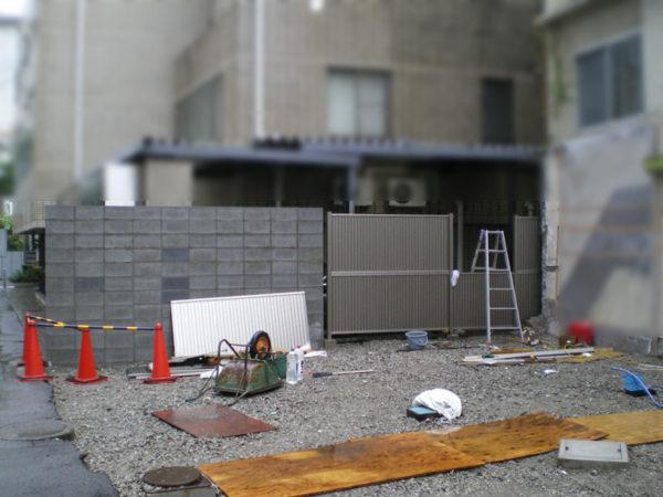 三鷹市 フェンス・ブロック塀の設置4